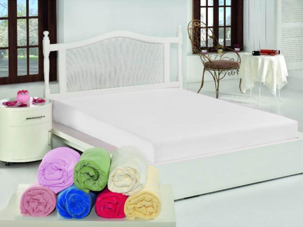 Prostěradlo bílé - 100% bavlna 150x240