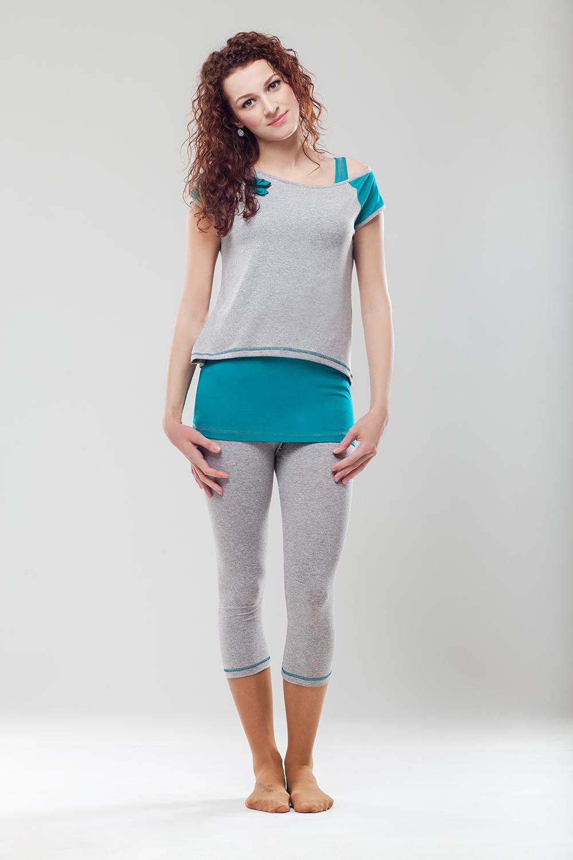 Legíny Ema - šedá melange - velikost XL